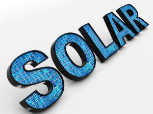 "Stock image of the word ""Solar"""